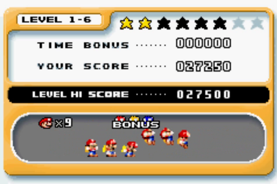 Mario Vs. Donkey Kong: Level 1-6 27,250 points