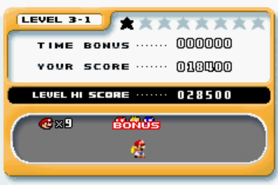 Mario Vs. Donkey Kong: Level 3-1 18,400 points