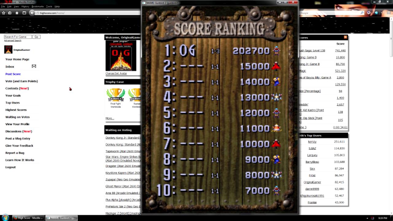 Gunbird 2 202,700 points