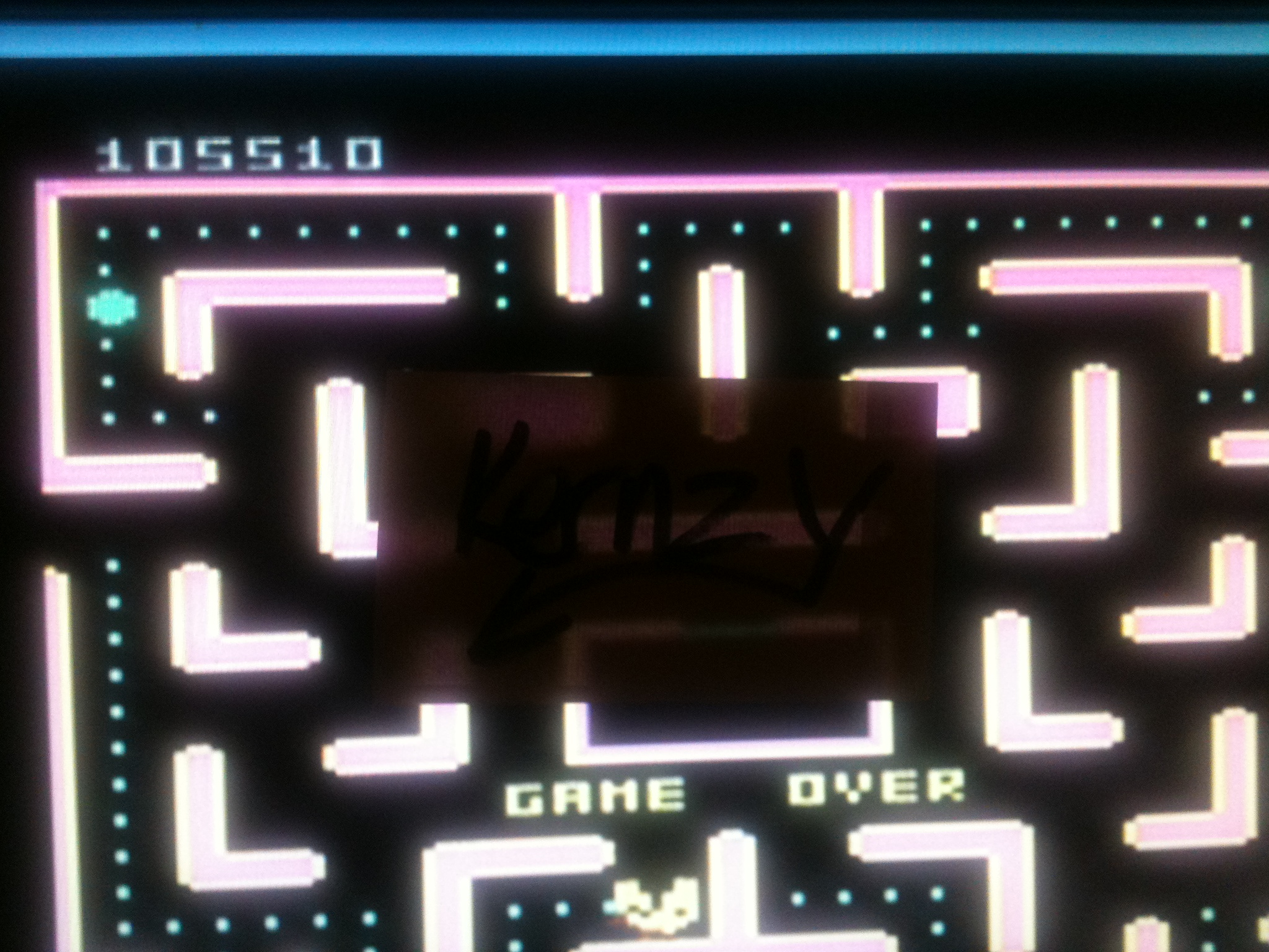 kernzy: Pac-Man Collection: Ms. Pac-Man [Apple/Plus Off/Fast Button] (Atari 7800 Emulated) 105,510 points on 2014-12-10 12:25:12