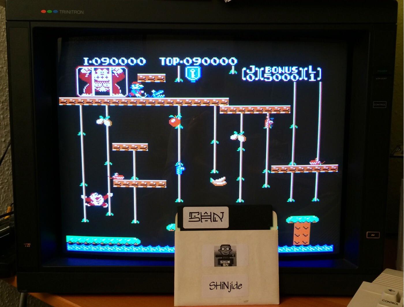 SHiNjide: Donkey Kong Jr (NES/Famicom Emulated) 90,000 points on 2014-12-12 11:42:48
