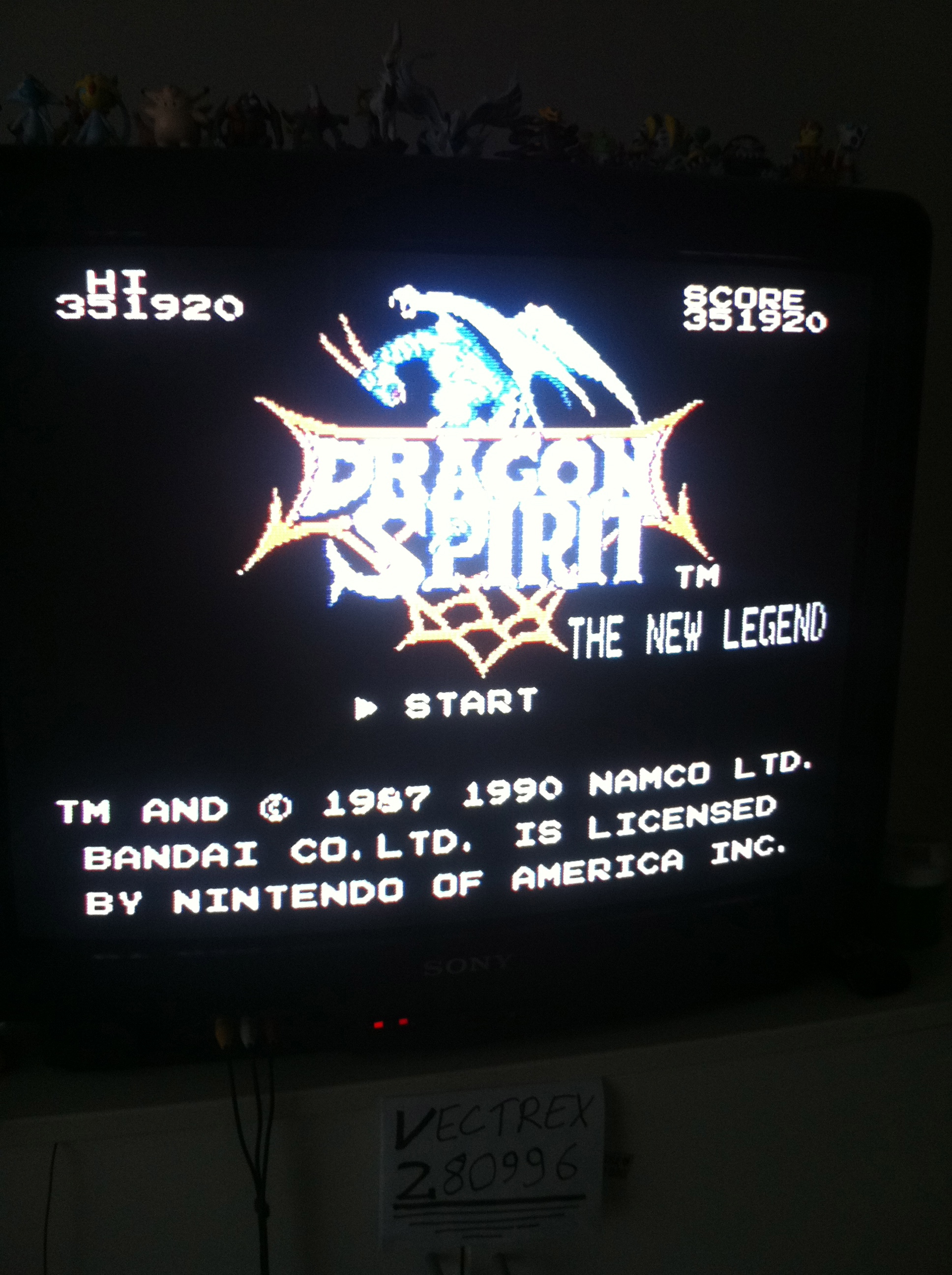 Vectrex2809: Dragon Spirit (NES/Famicom) 351,920 points on 2014-12-14 07:33:25