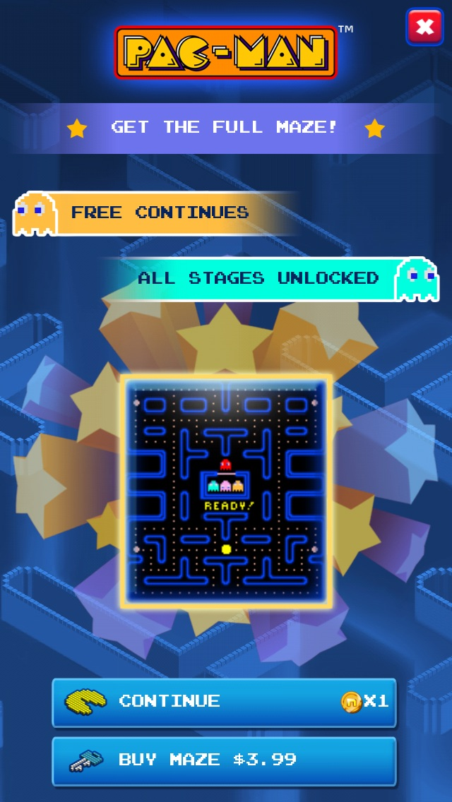 mechafatnick: Pac-Man: Classic (iOS) 20,700 points on 2014-12-14 11:29:11