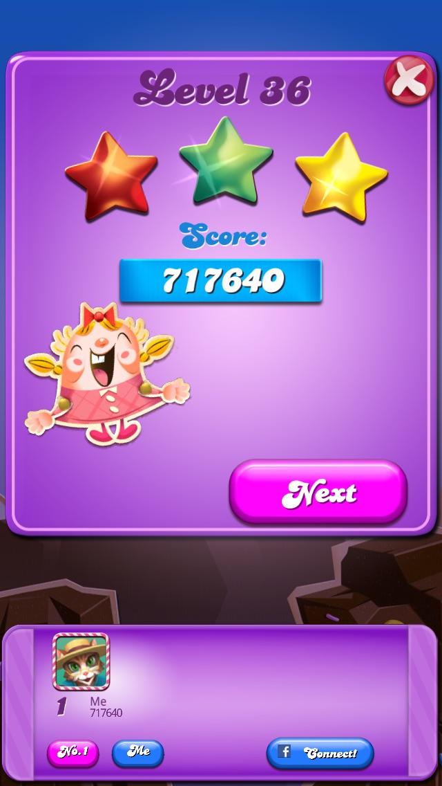 Eweaver: Candy Crush Saga: Level 036 (iOS) 717,640 points on 2014-12-14 20:27:13