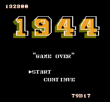 Scootablue: 1944 (NES/Famicom Emulated) 132,800 points on 2014-12-15 11:20:15