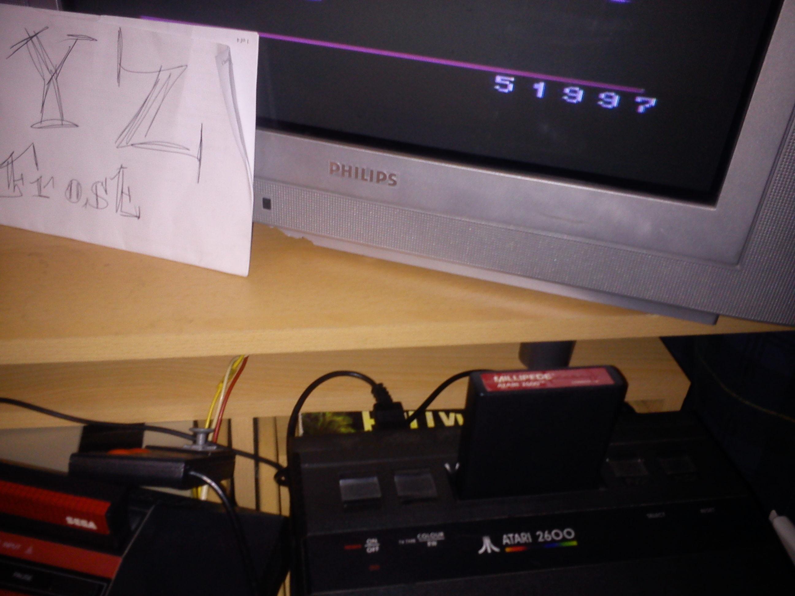 Fr0st: Millipede (Atari 2600 Novice/B) 51,997 points on 2014-12-17 17:27:06