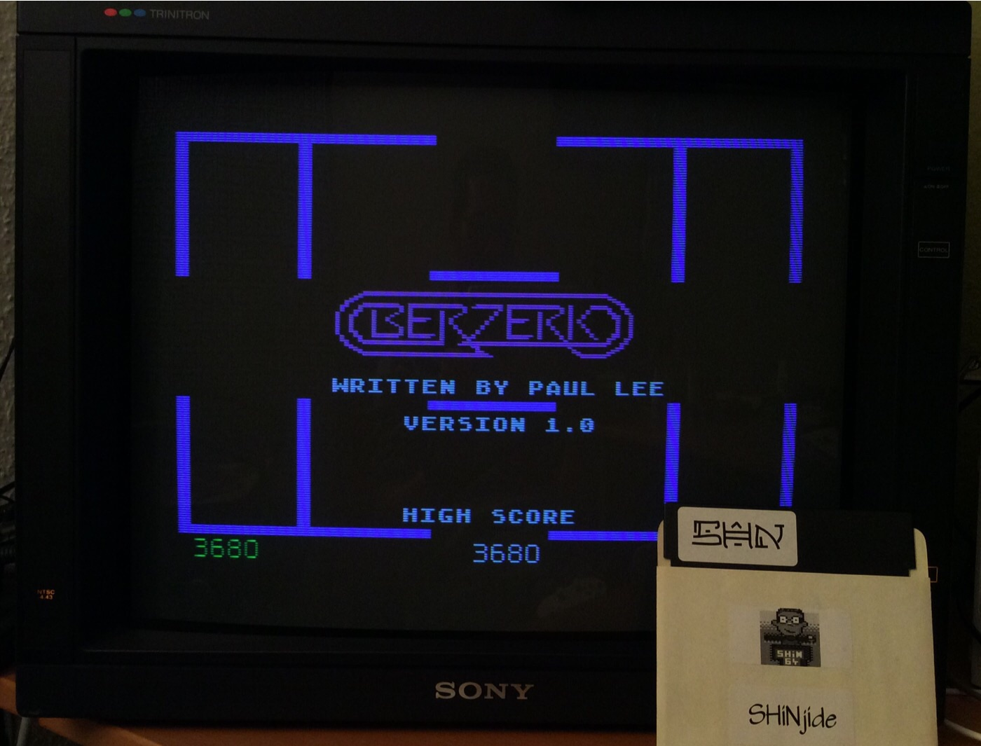 SHiNjide: Berzerk (Sega Genesis / MegaDrive Emulated) 3,680 points on 2014-12-20 10:23:13