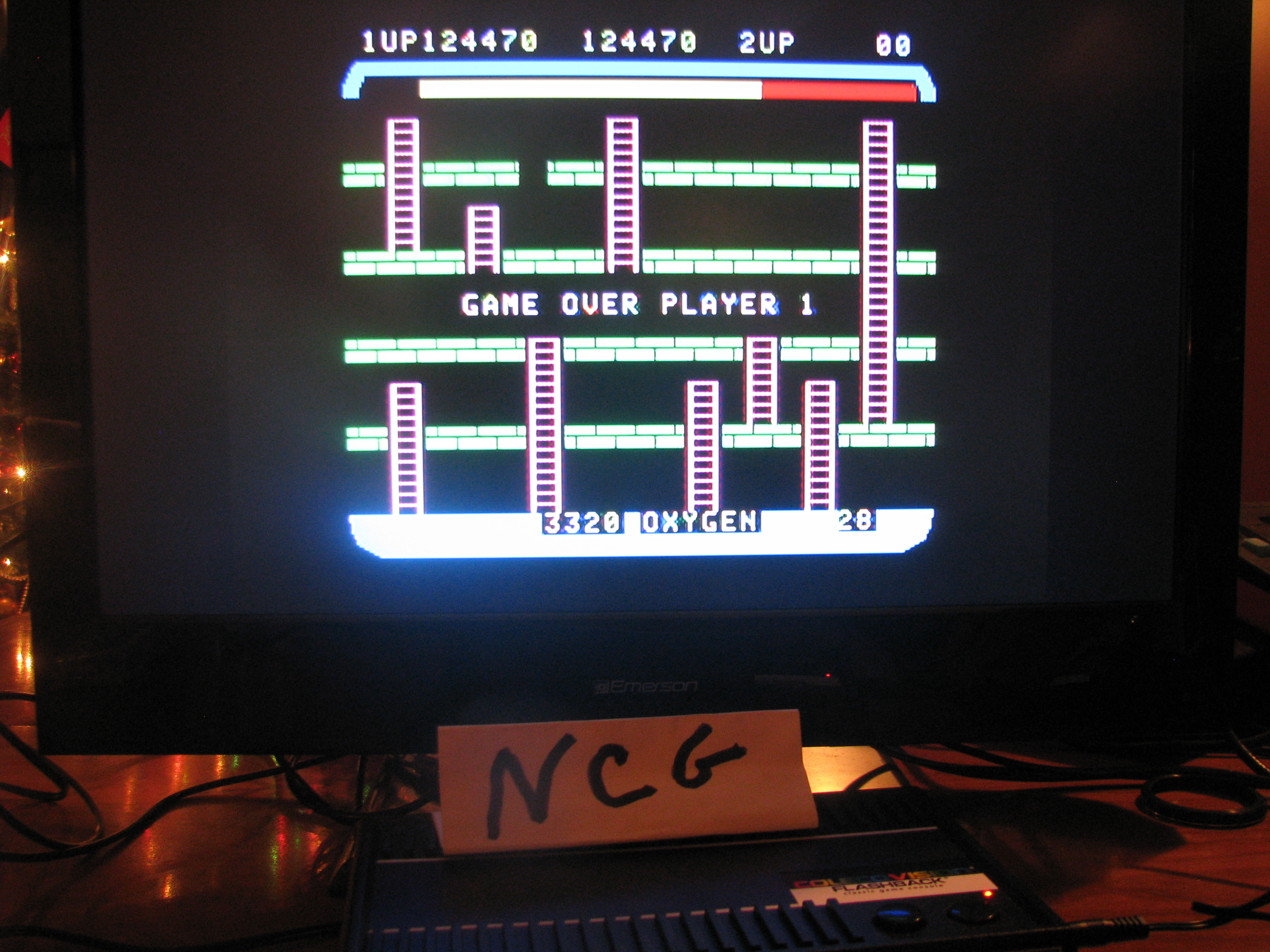 NorthCoastGamer: Space Panic (Colecovision Flashback) 124,470 points on 2014-12-20 23:23:45