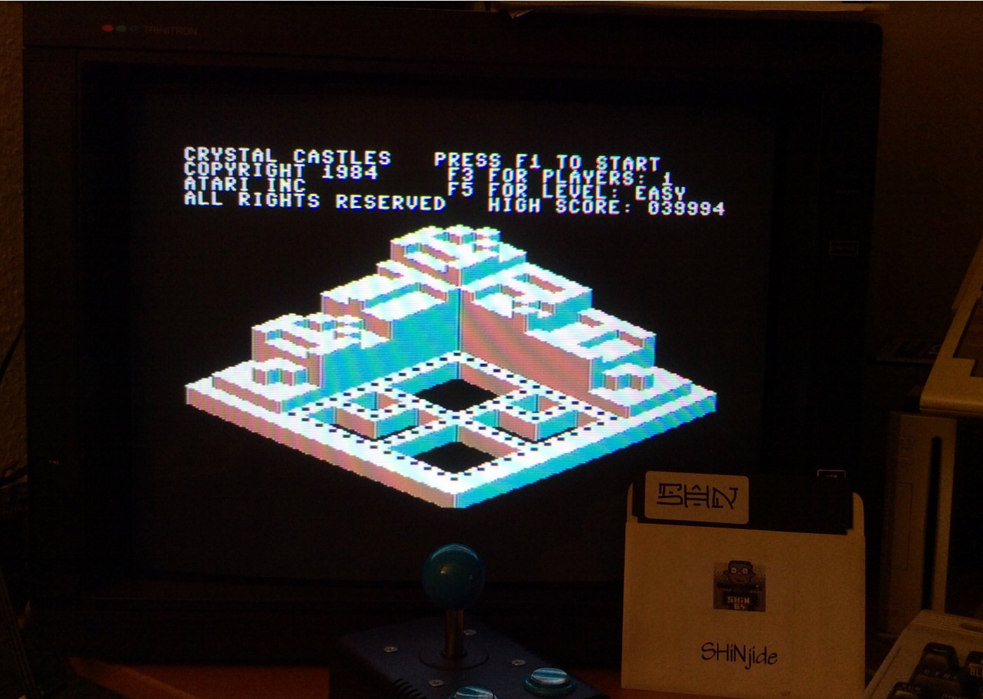 SHiNjide: Crystal Castles [US Gold/Atari] [Easy] (Commodore 64) 39,994 points on 2014-12-21 15:42:23