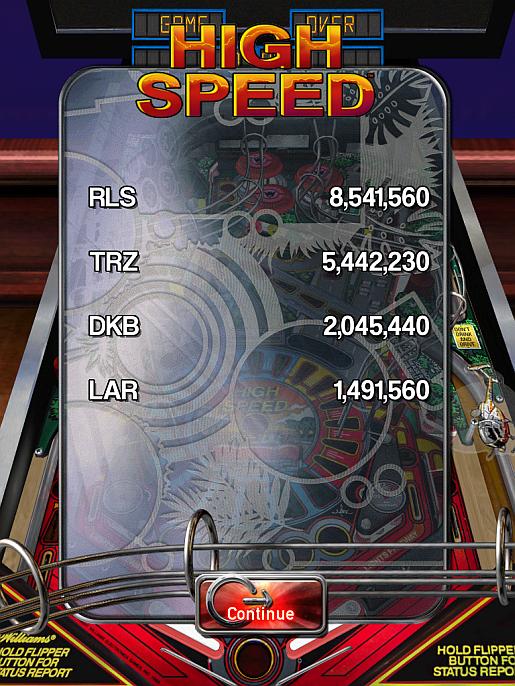 Pinball Arcade: High Speed 2,045,440 points