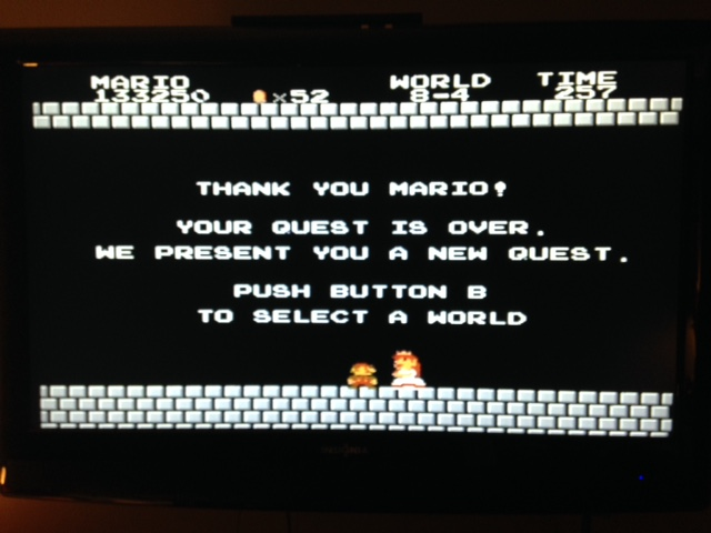 odnarb1986: Super Mario Bros.: One Life Only (NES/Famicom) 133,250 points on 2014-12-21 22:40:46