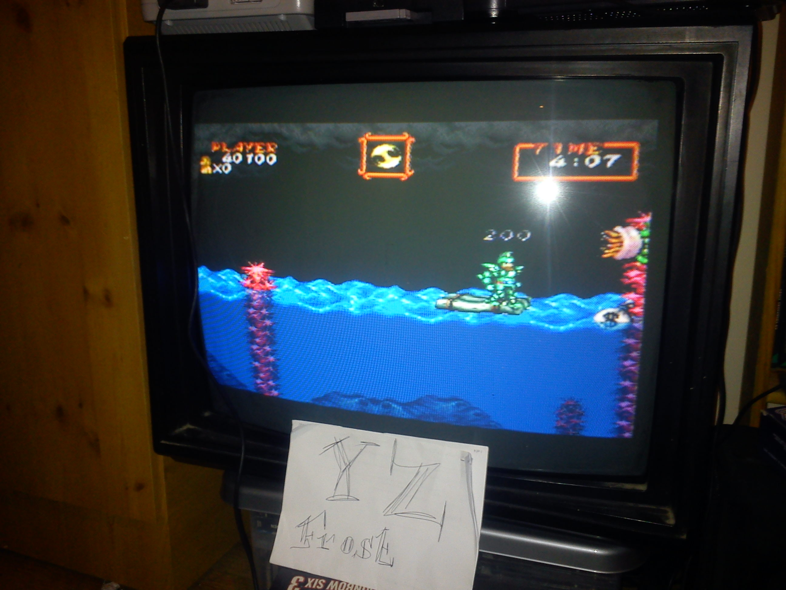 Super Ghouls N Ghosts 40,100 points