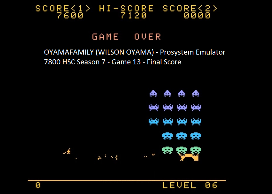 Space Invaders [Normal/Fixed Shields] 7,600 points