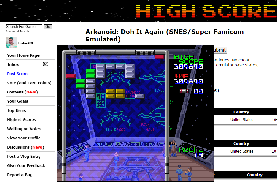 FosterAMF: Arkanoid: Doh It Again (SNES/Super Famicom Emulated) 304,840 points on 2014-12-24 16:07:54