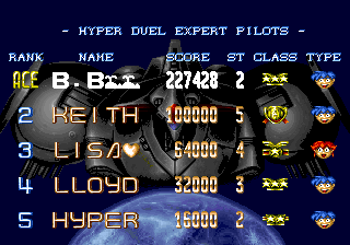 BarryBloso: Hyper Duel [hyprduel] (Arcade Emulated / M.A.M.E.) 227,428 points on 2014-12-25 05:01:20