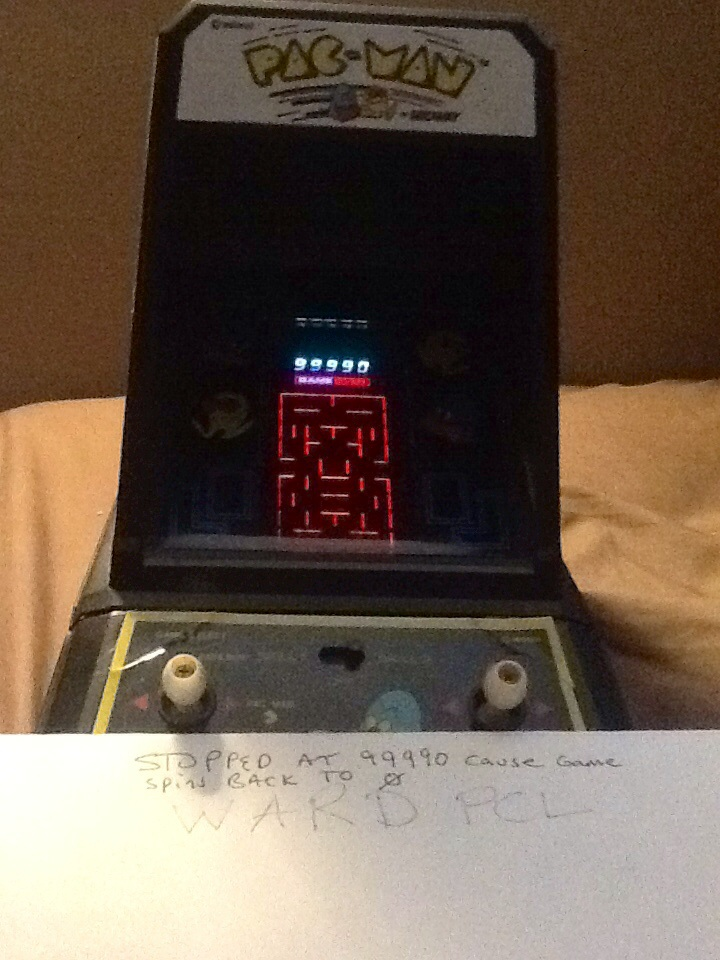 Coleco Pac-Man 99,990 points