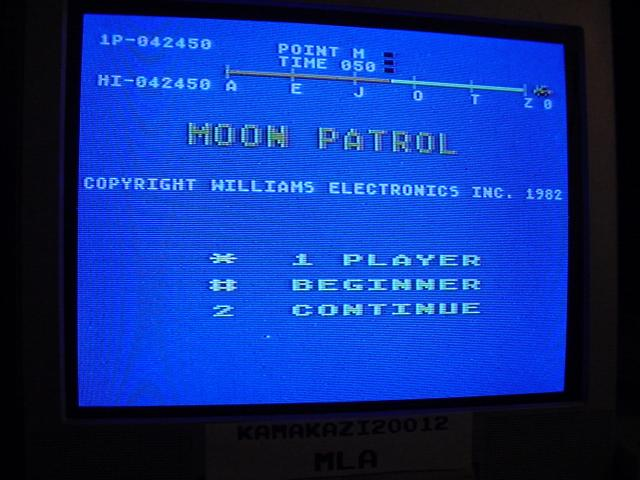 Moon Patrol: Beginner 42,450 points