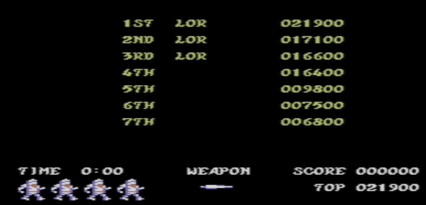 lenny2571: Ghosts N Goblins (Commodore 64 Emulated) 21,900 points on 2014-12-26 03:47:23