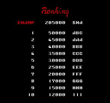 Atomic Runner Chelnov 205,000 points