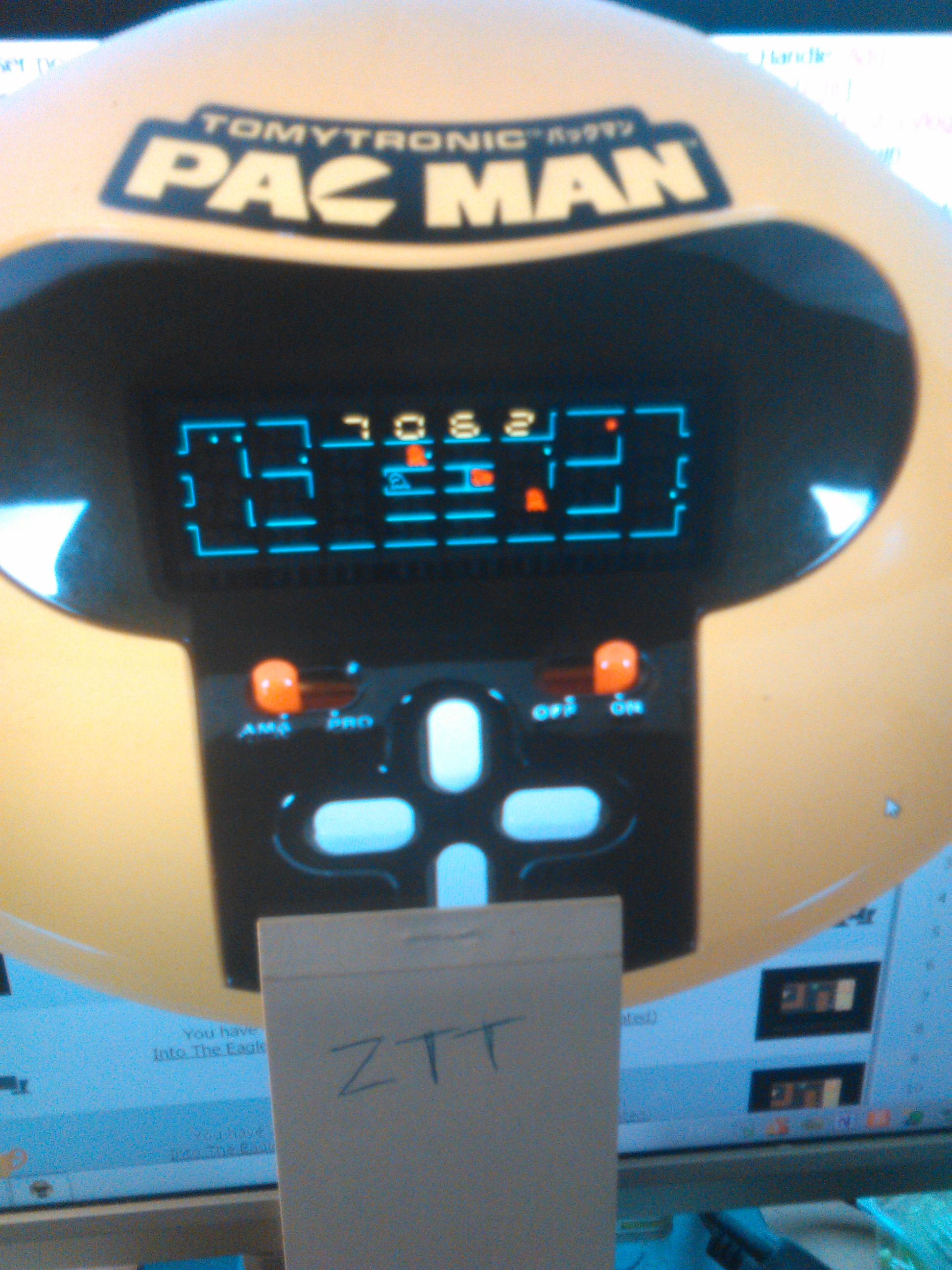 TomyTronic Pac-Man 7,062 points