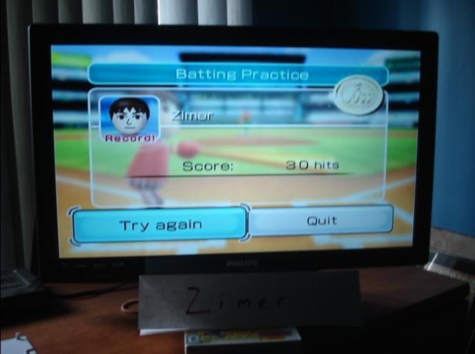 Zimer: Wii Sports: Baseball [Batting Practice] (Wii) 30 points on 2014-12-26 13:21:51