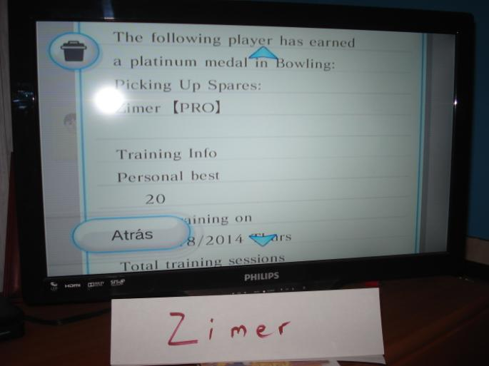 Zimer: Wii Sports: Bowling [Picking Up Spares] (Wii) 20 points on 2014-12-26 12:22:49