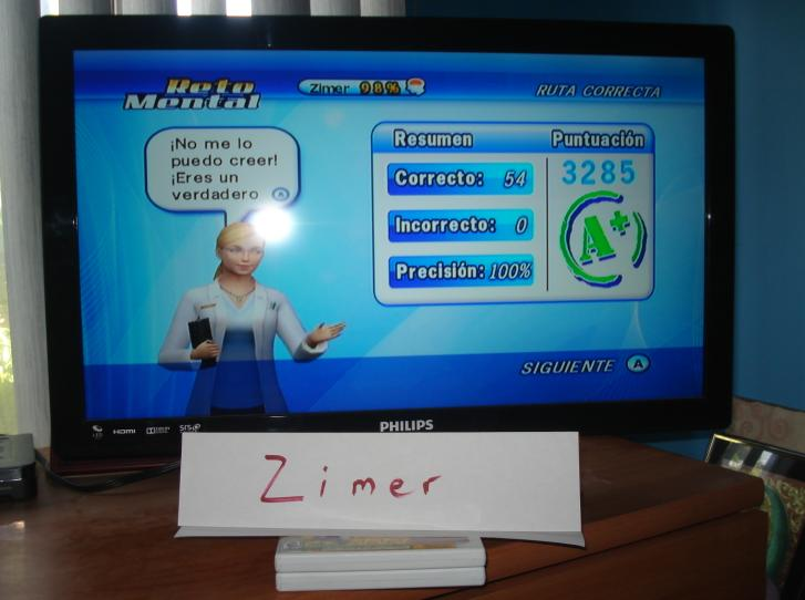 Zimer: Brain Challenge: Math Trout Route (Wii) 3,285 points on 2014-12-26 13:40:23