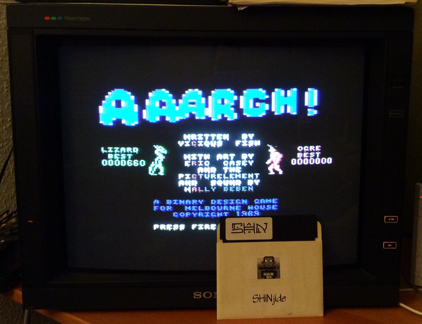 SHiNjide: AAARGH! (Commodore 64) 660 points on 2014-12-26 16:17:52
