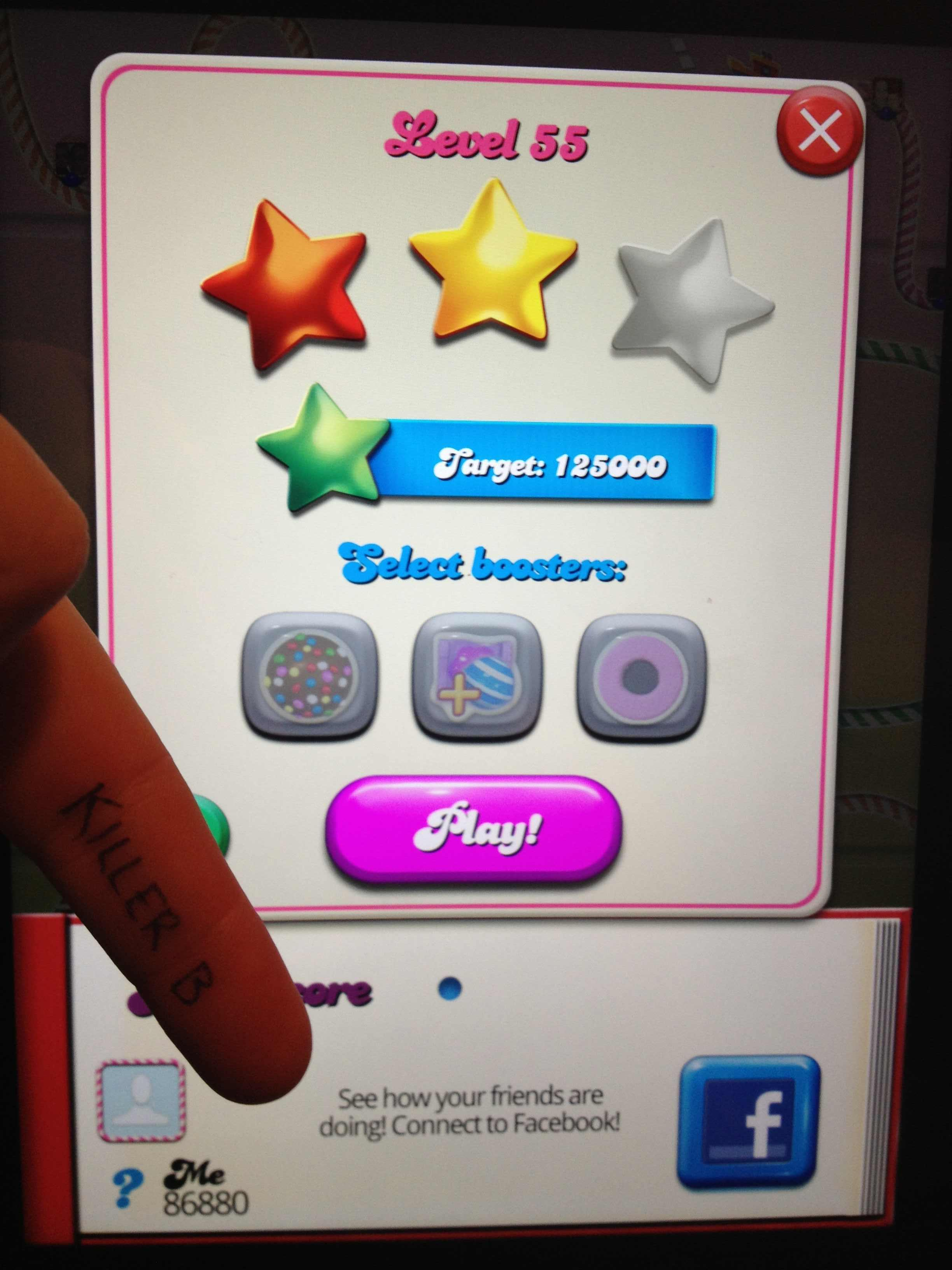 KillerB: Candy Crush Saga: Level 055 (iOS) 86,880 points on 2013-10-17 00:01:12