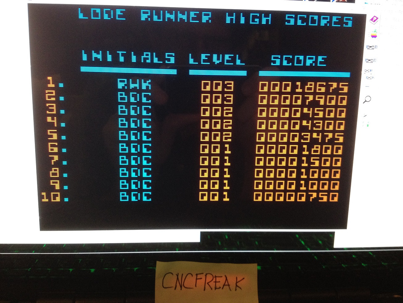 Lode Runner 18,675 points