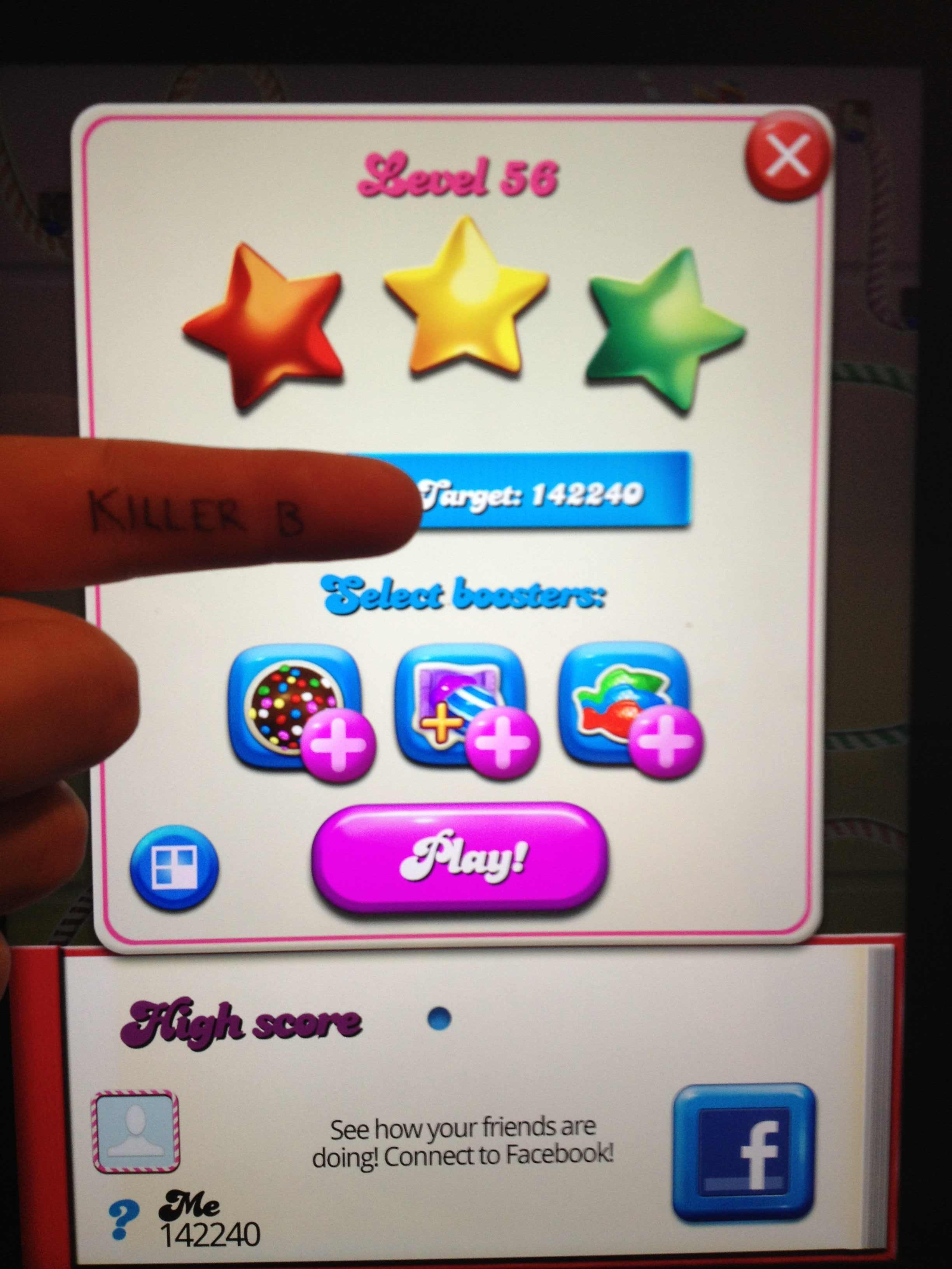 Candy Crush Saga: Level 056 142,240 points