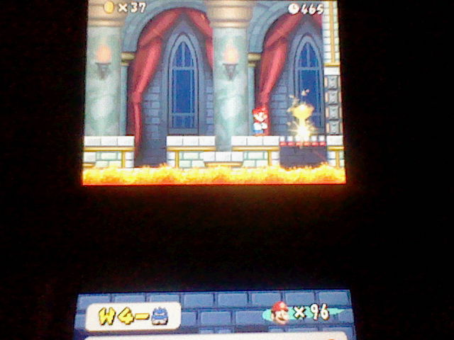 DarkEonMaster: New Super Mario Bros.: World 4-Castle [Remaining Time] (Nintendo DS) 465 points on 2014-12-27 16:30:16