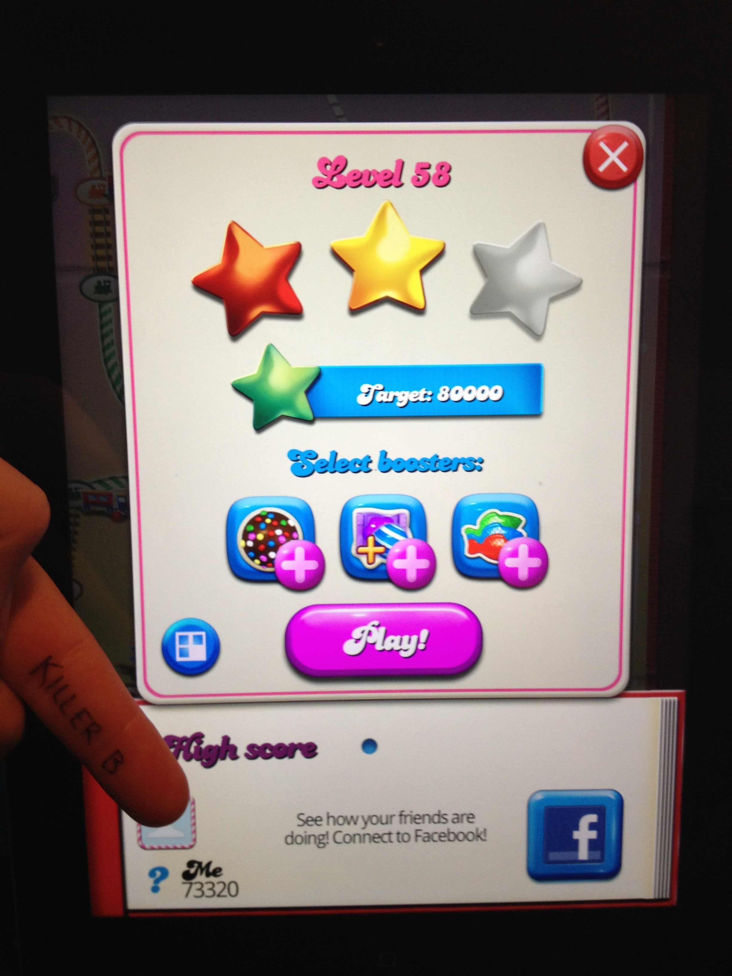 Candy Crush Saga: Level 058 73,320 points