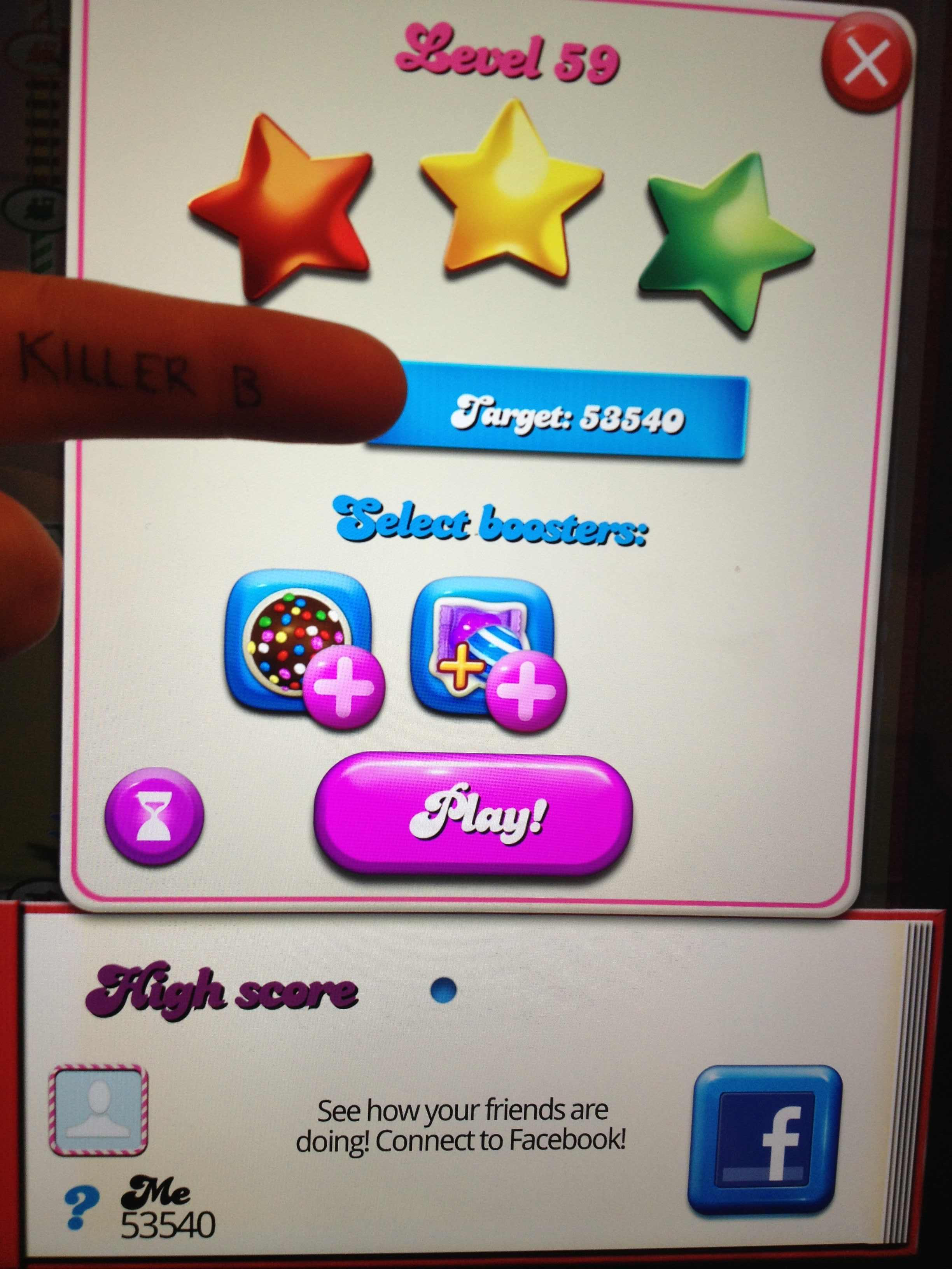Candy Crush Saga: Level 059 53,540 points