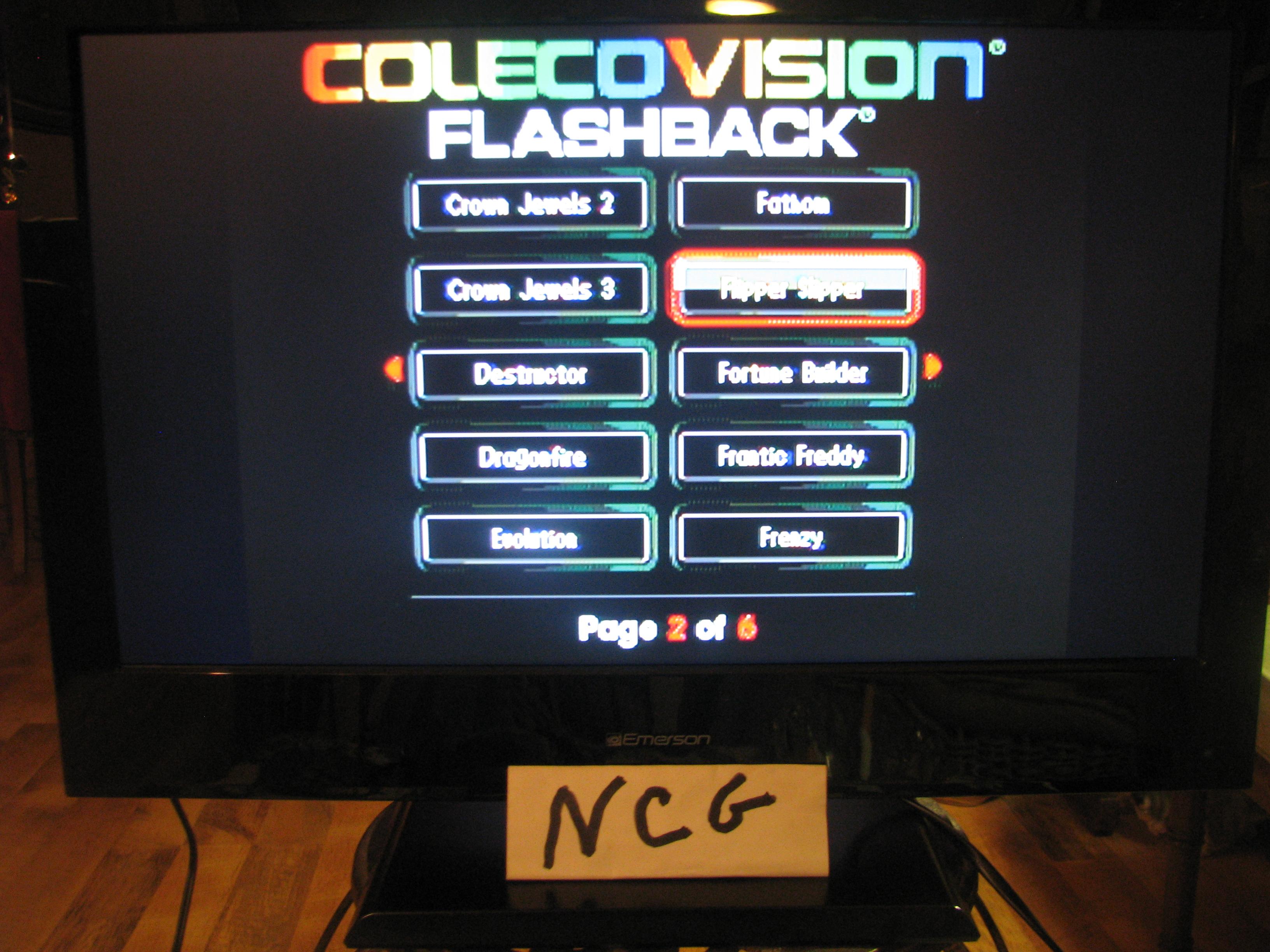 NorthCoastGamer: Flipper Slipper (Colecovision Flashback) 14,180 points on 2014-12-28 21:52:10