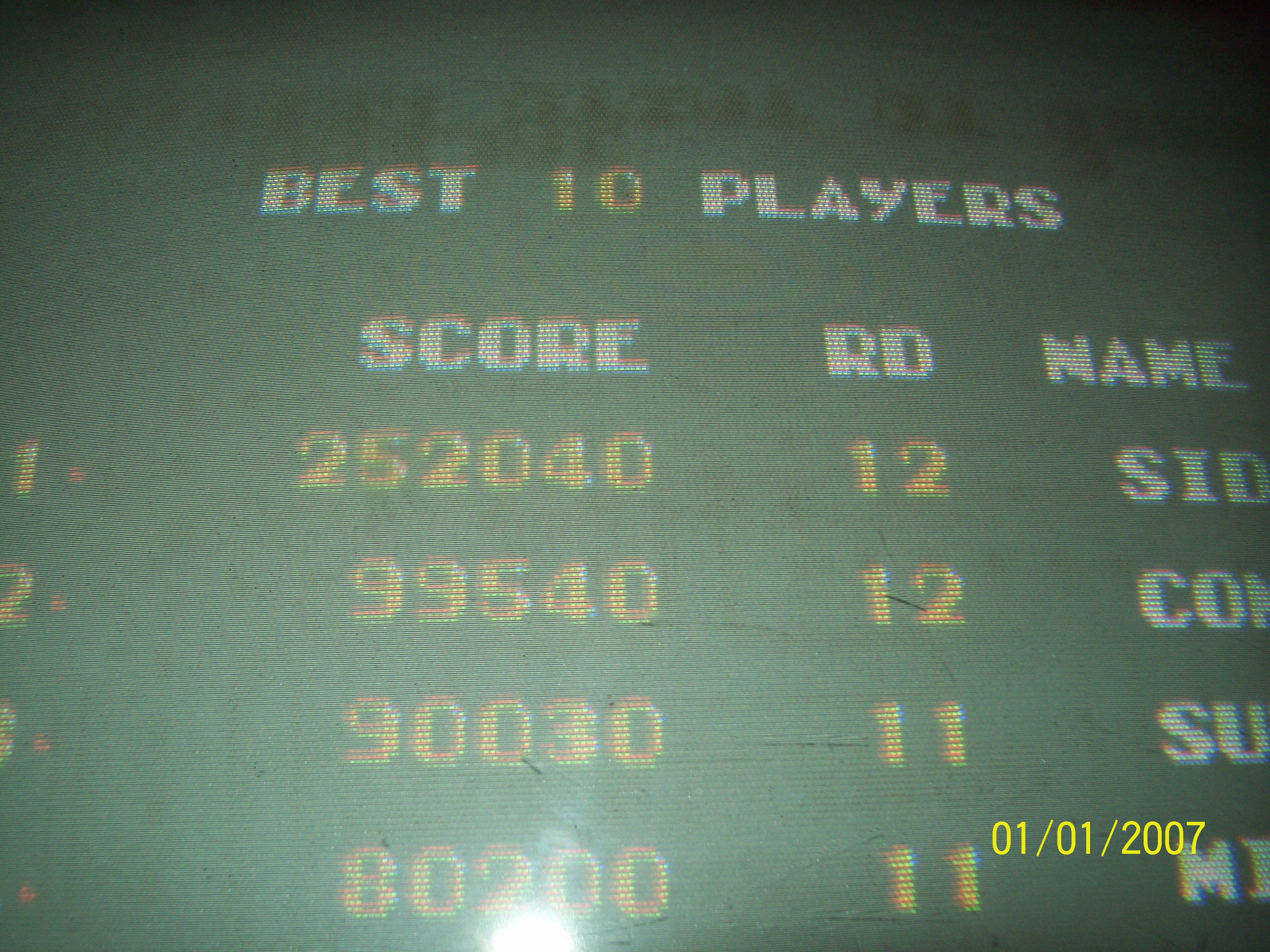 Sidseattle: Bosconian (Arcade) 252,040 points on 2014-12-29 20:53:06