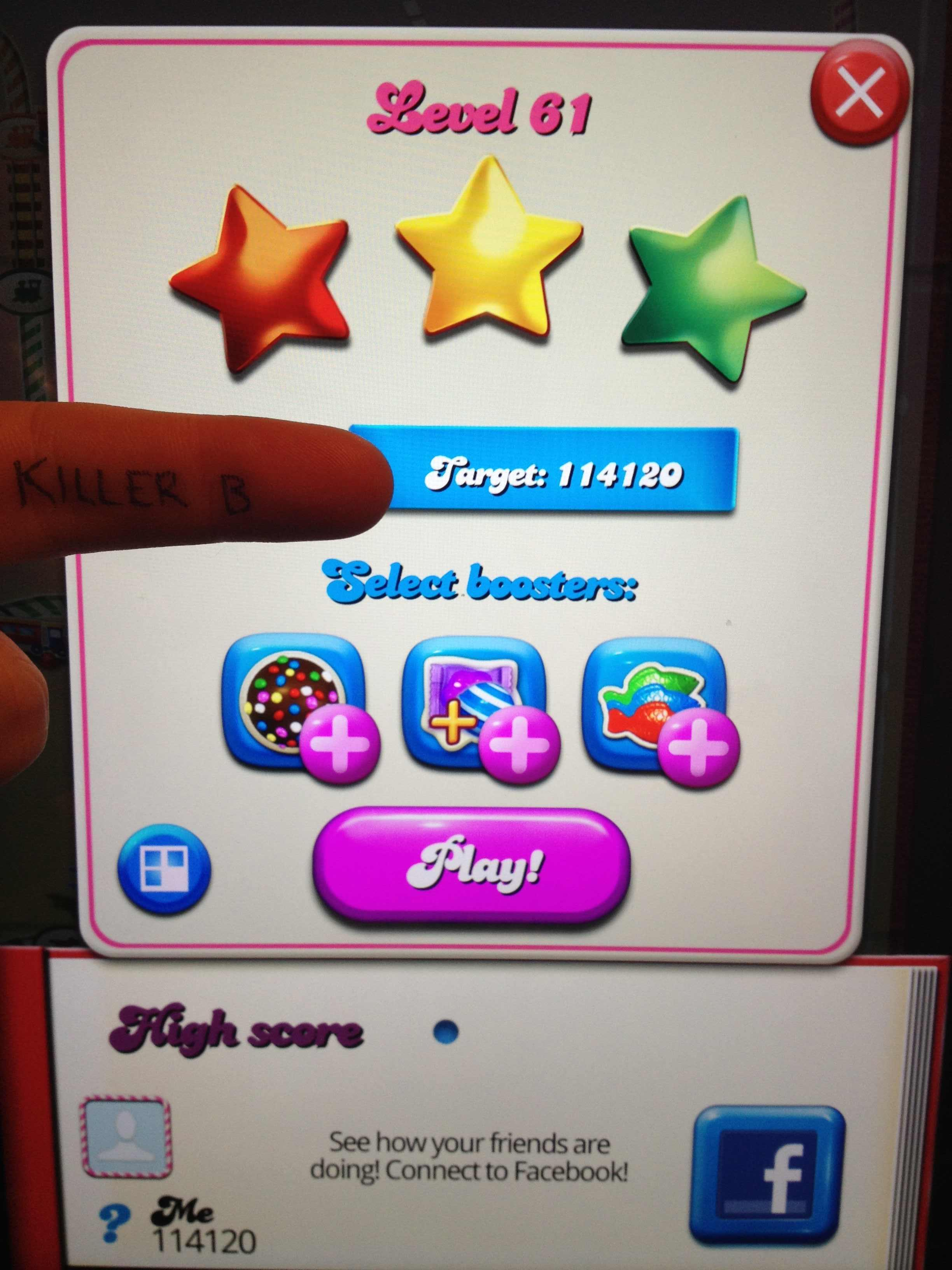 Candy Crush Saga: Level 061 114,120 points