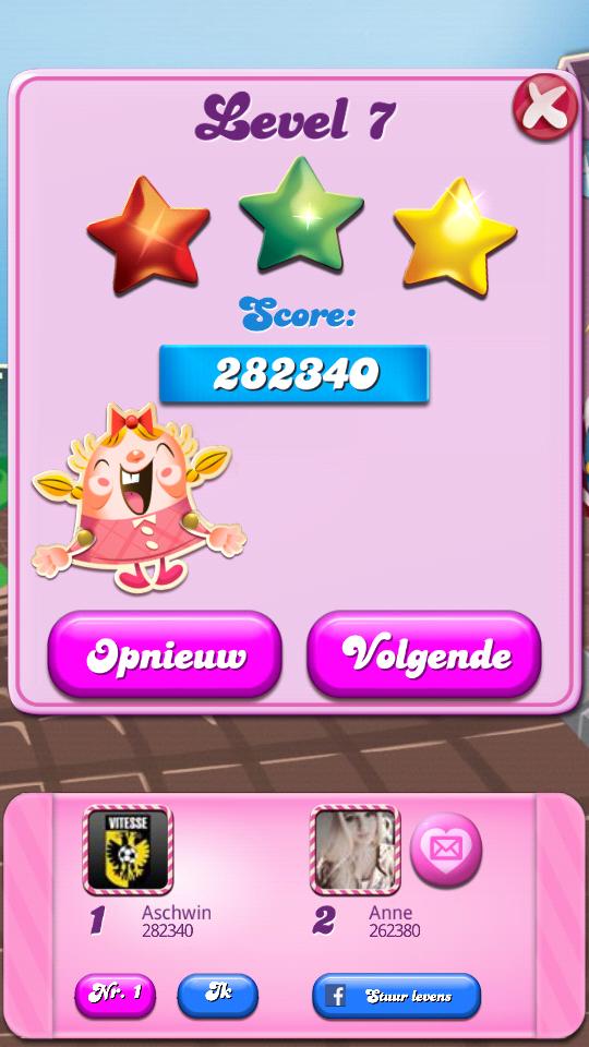 Candy Crush Saga: Level 0007 282,340 points