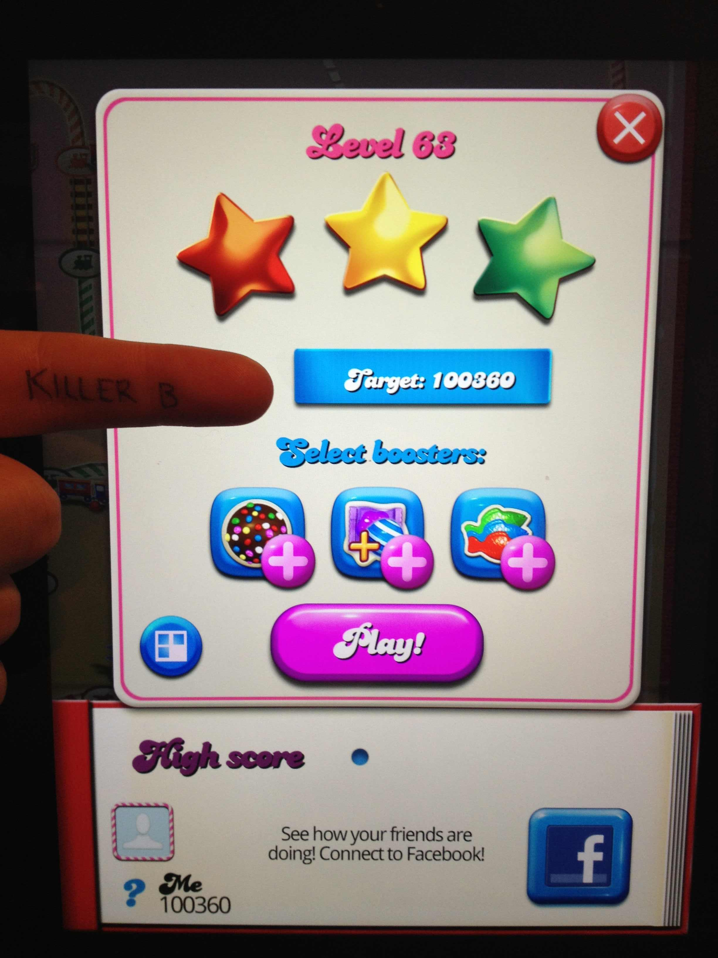Candy Crush Saga: Level 063 100,360 points