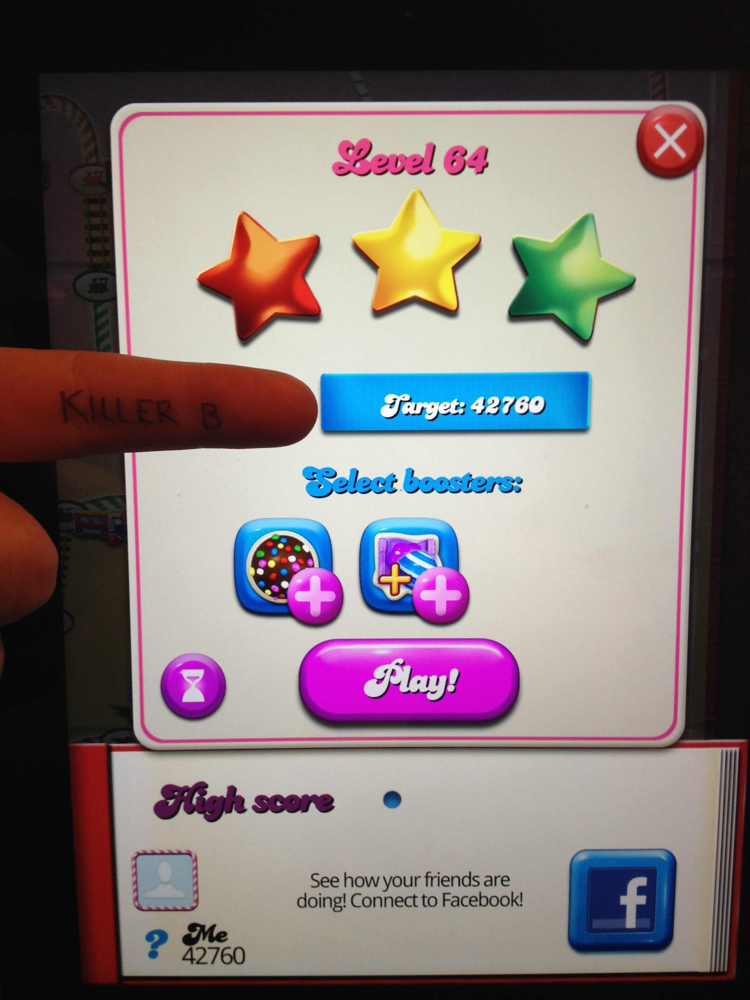 Candy Crush Saga: Level 064 42,760 points