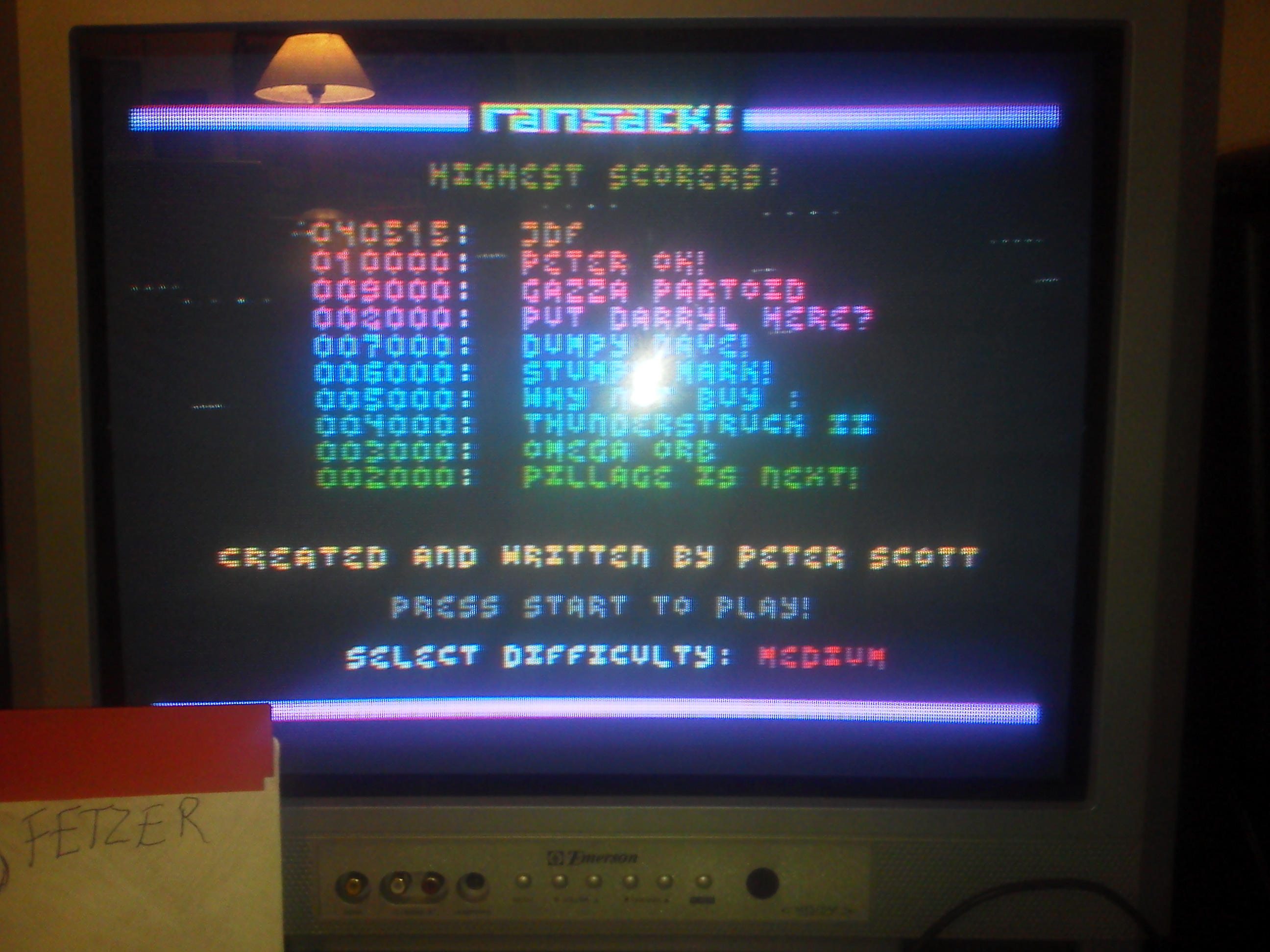 jfetzer: Ransack! (Atari 400/800/XL/XE) 40,515 points on 2015-01-01 19:05:23