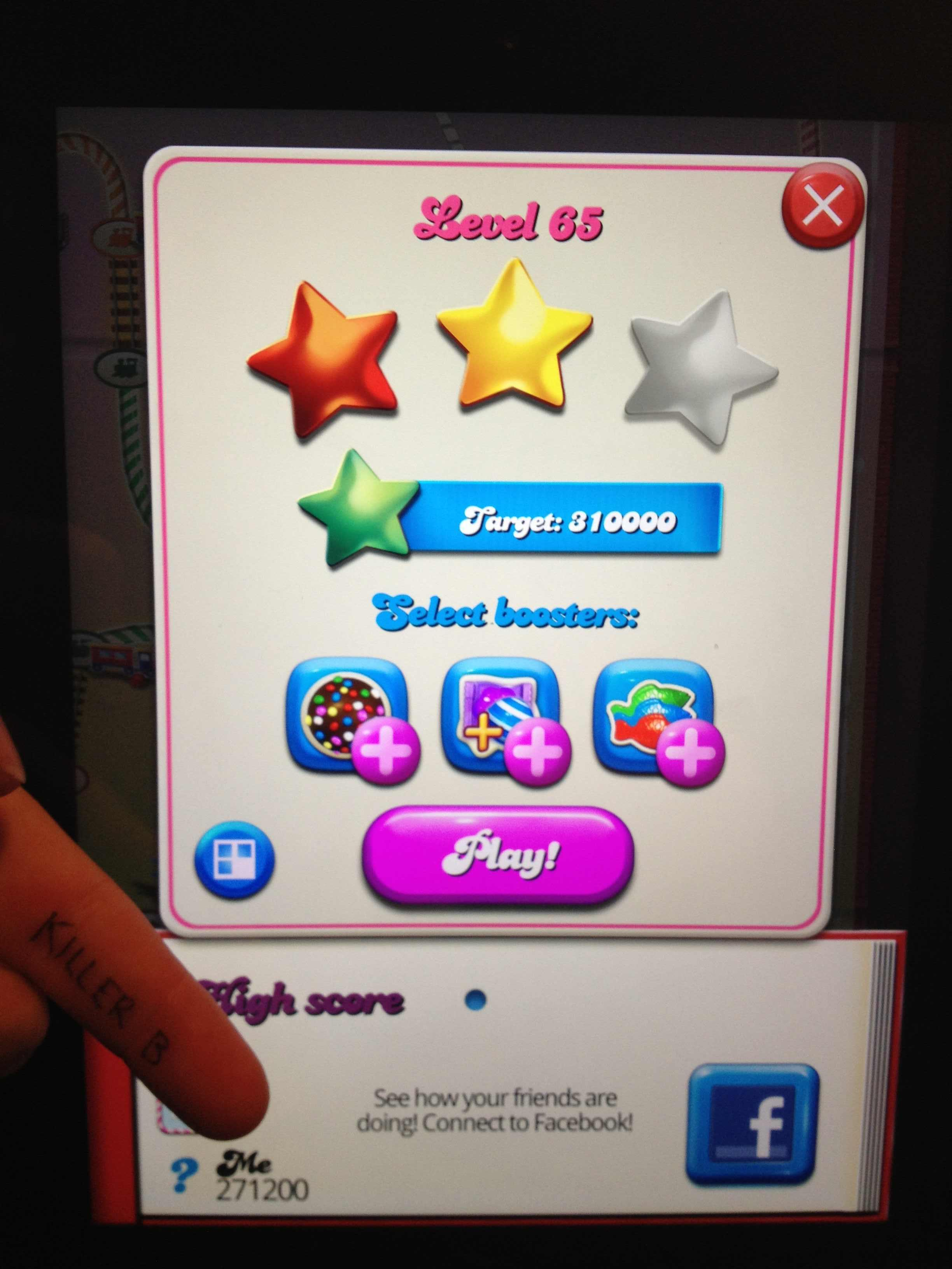 KillerB: Candy Crush Saga: Level 065 (iOS) 271,200 points on 2013-10-17 00:11:10