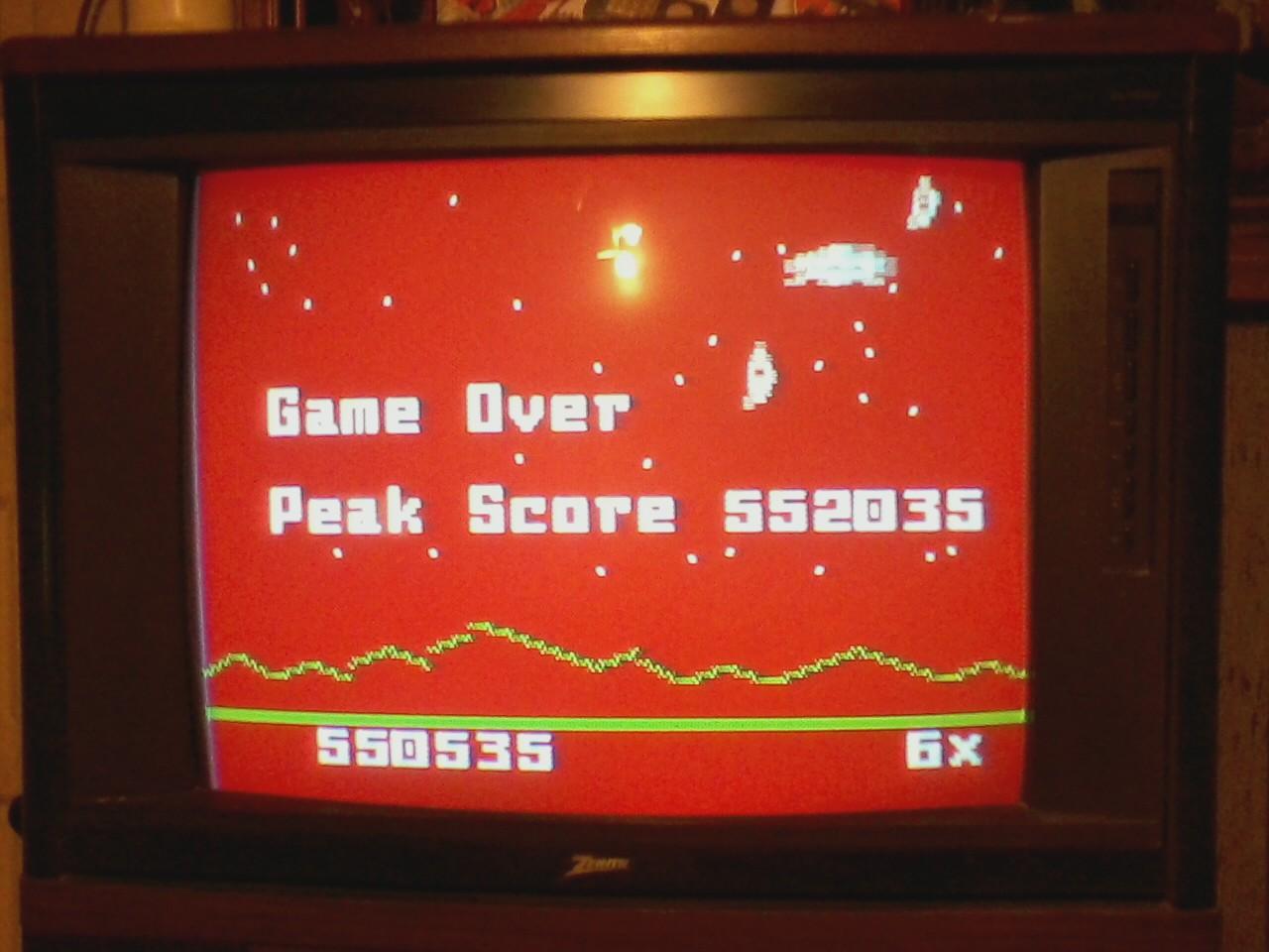 Astrosmash [Final Score] 550,535 points