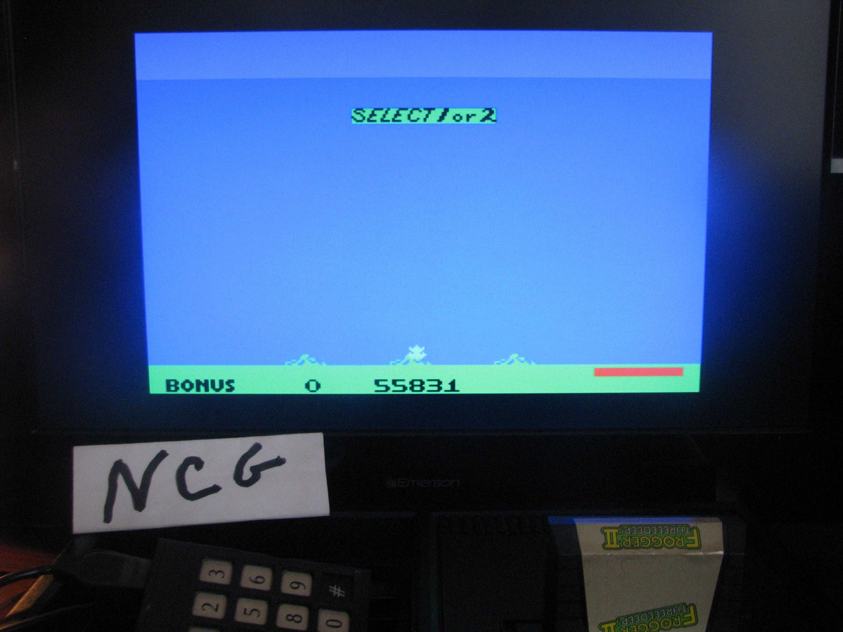 NorthCoastGamer: Frogger II: Threedeep (Colecovision) 55,831 points on 2015-01-02 15:33:00
