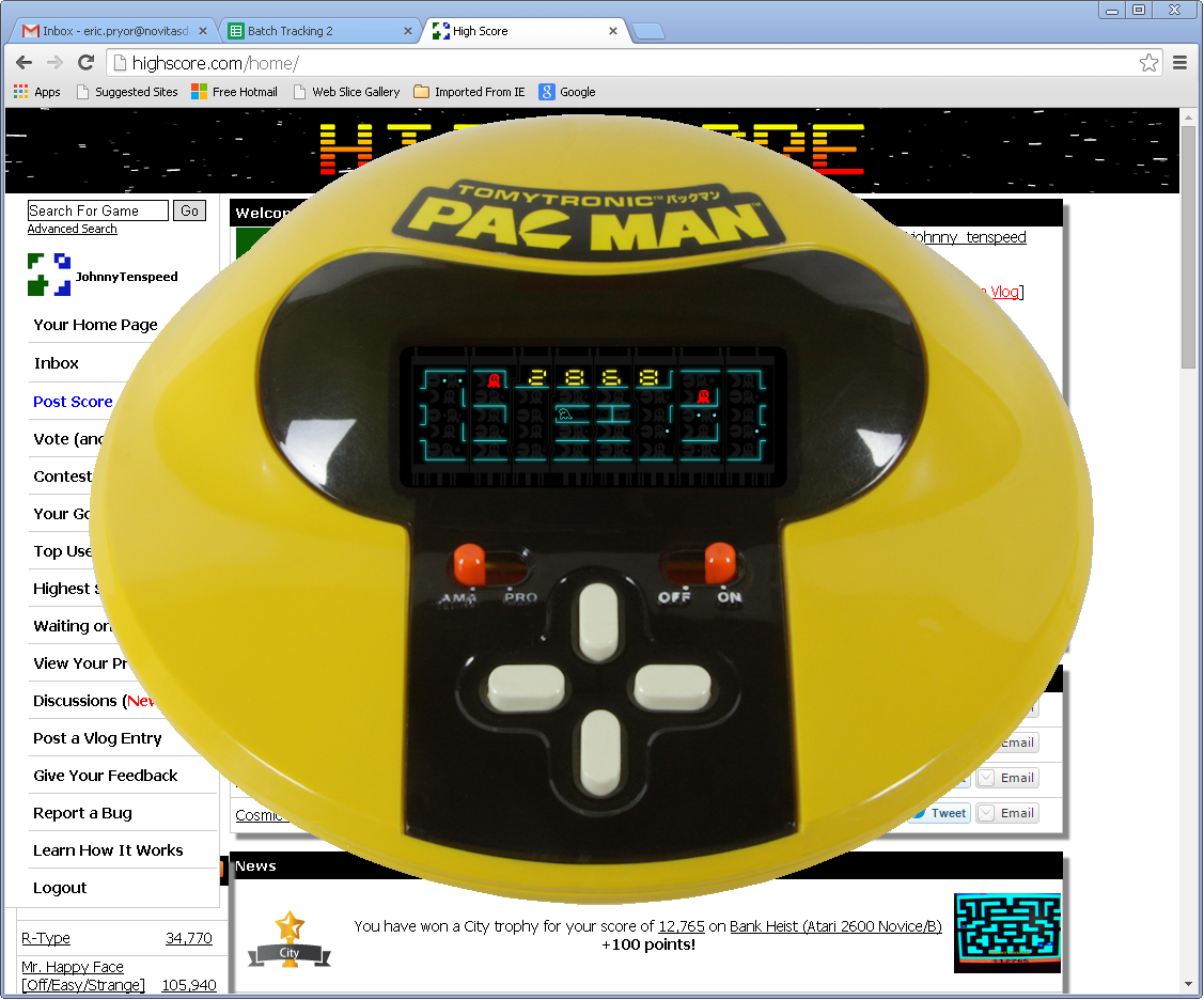 TomyTronic Pac-Man 2,868 points