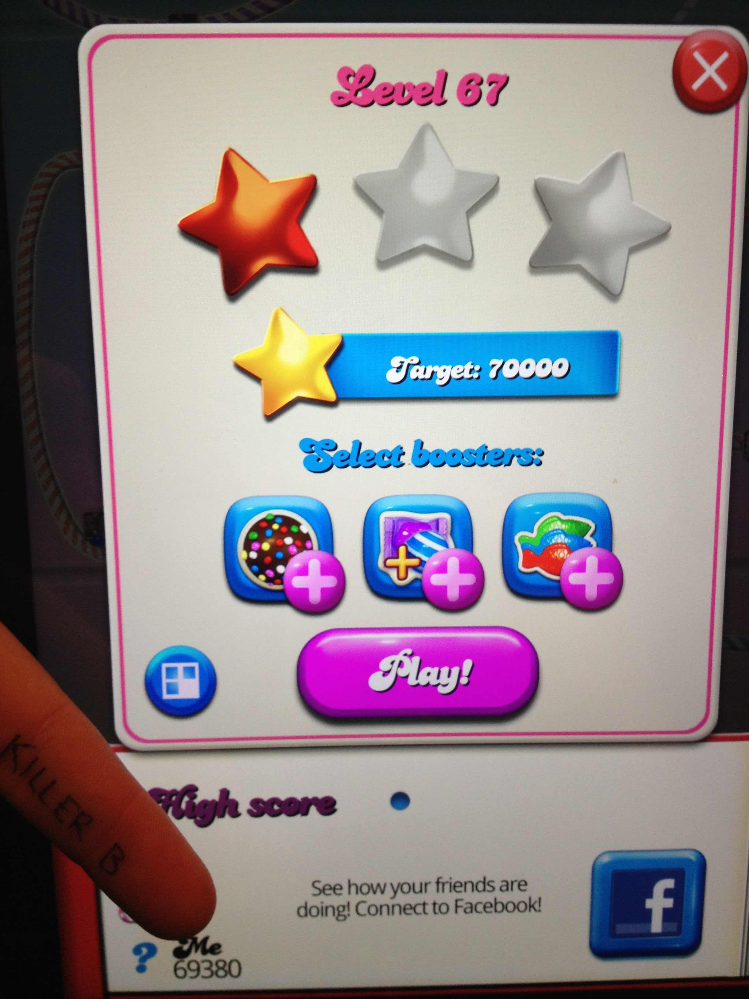 Candy Crush Saga: Level 067 69,380 points