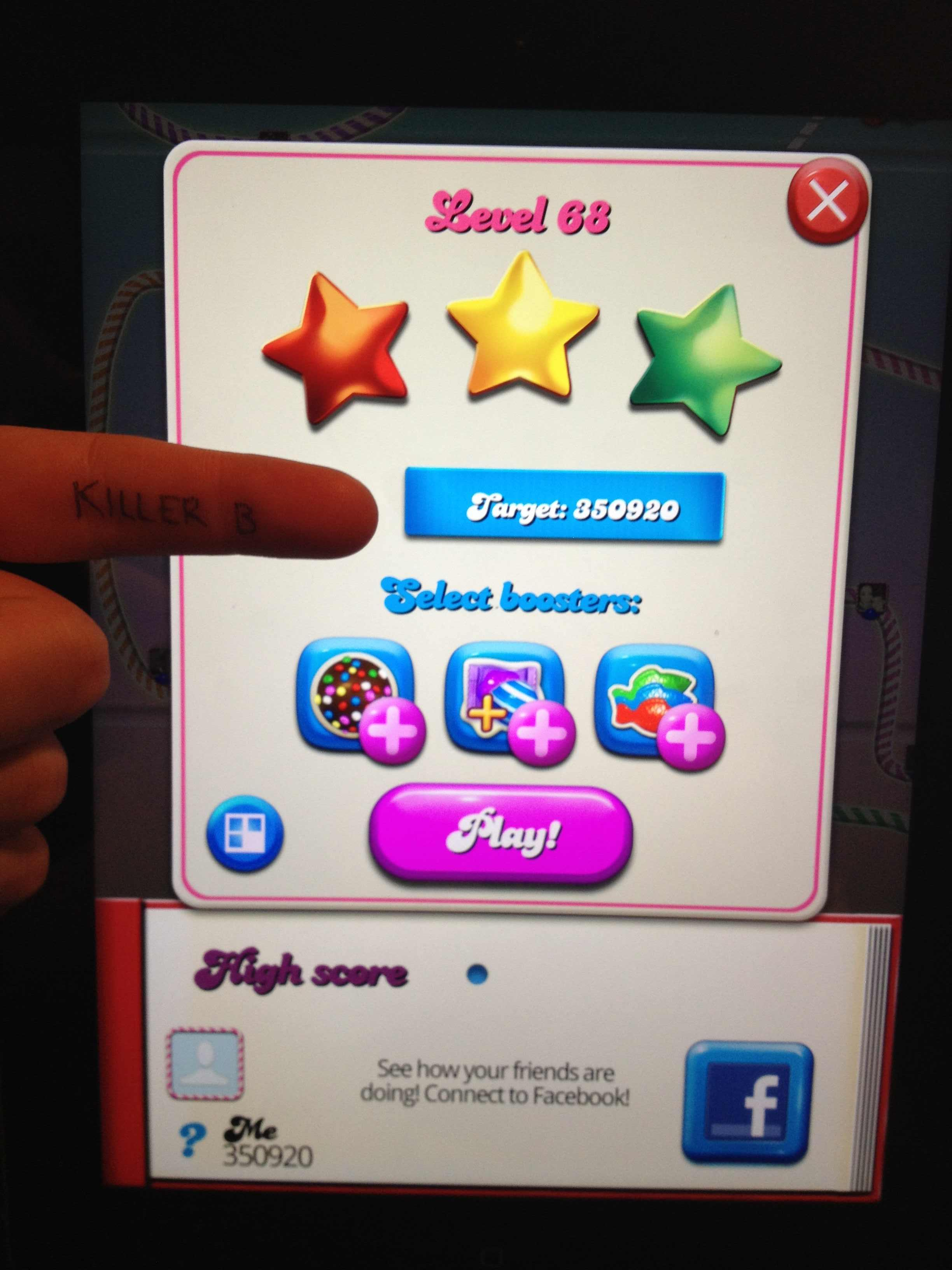 Candy Crush Saga: Level 068 350,920 points