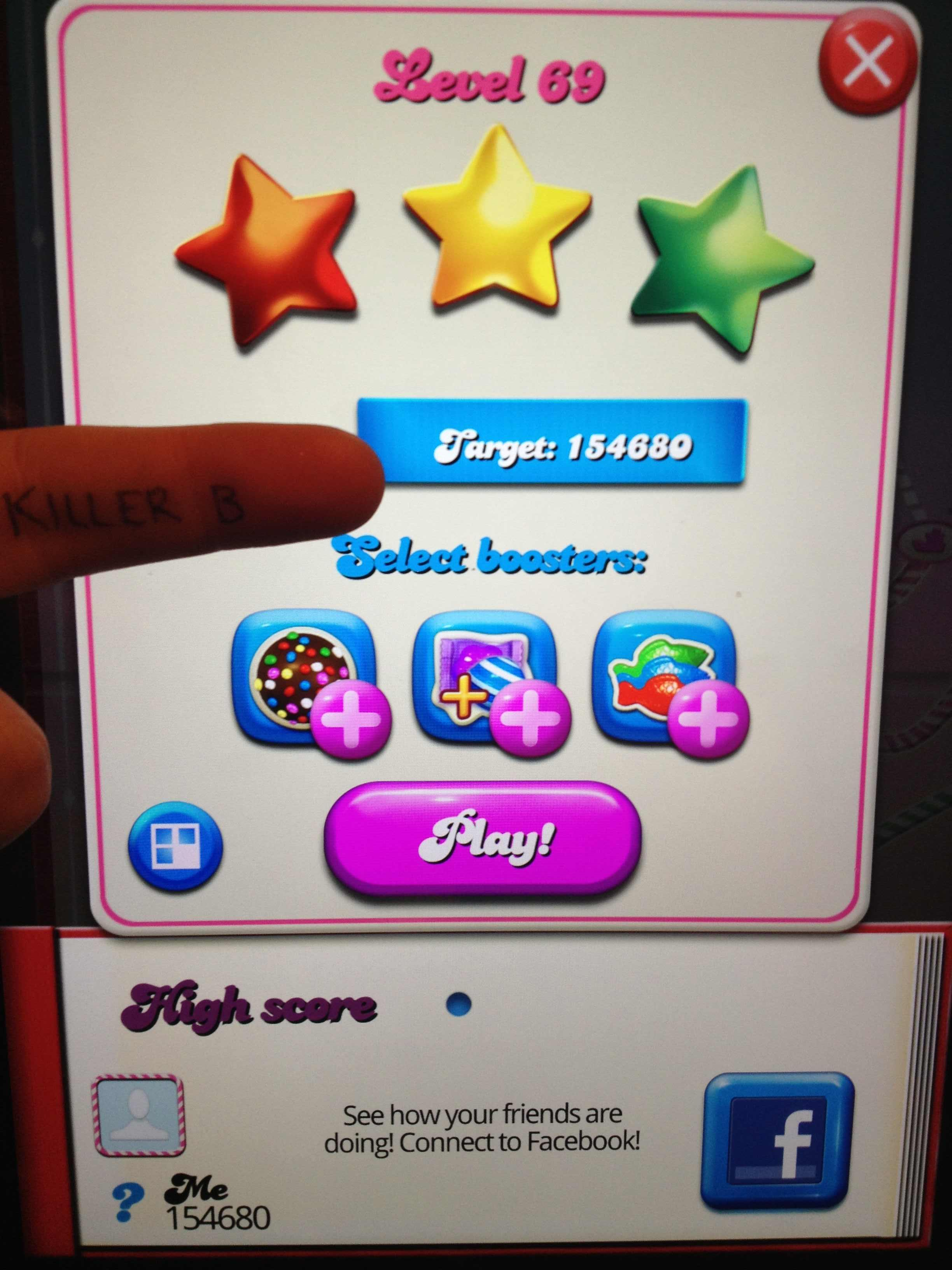 Candy Crush Saga: Level 069 154,680 points
