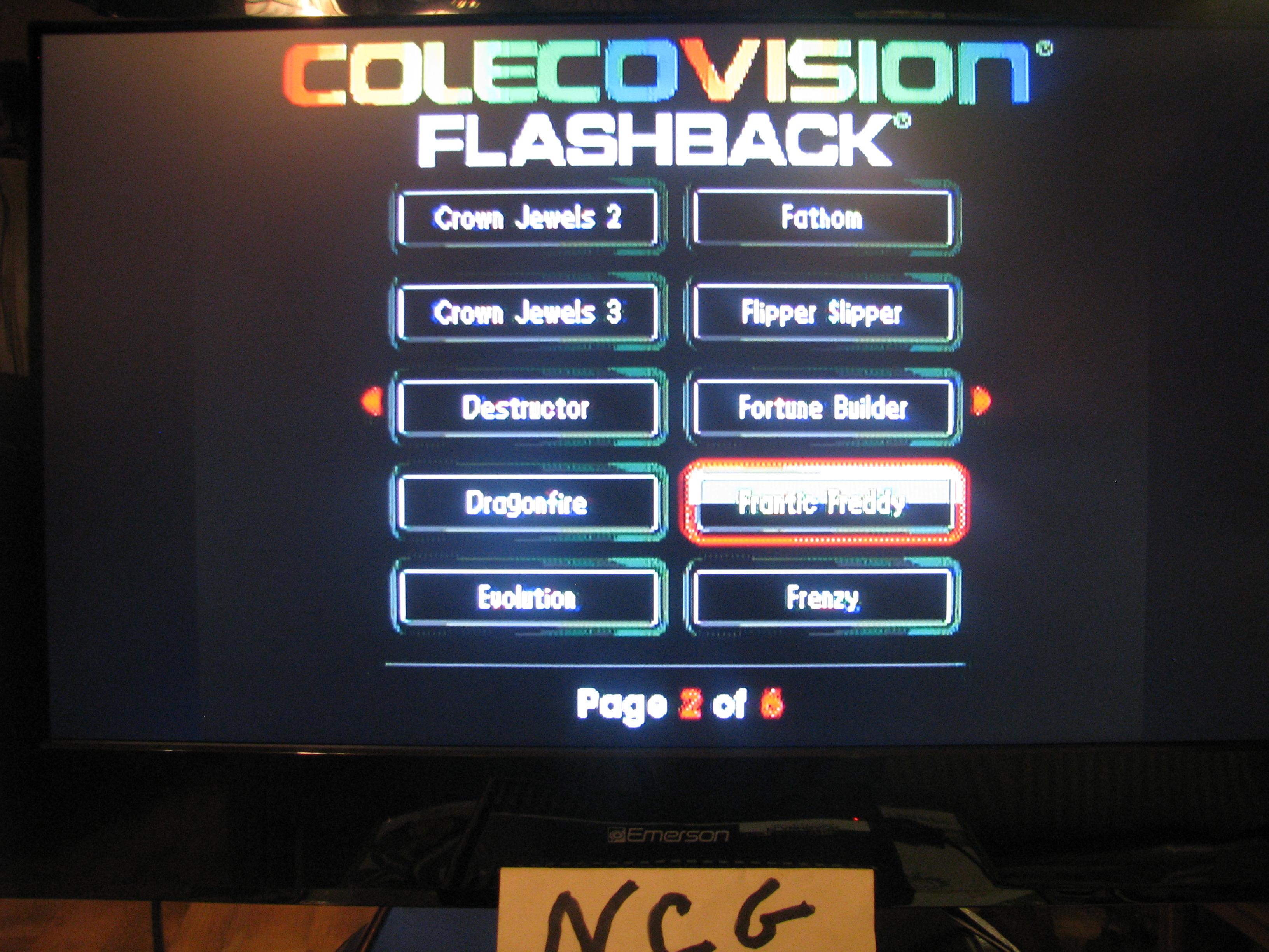 NorthCoastGamer: Frantic Freddy (Colecovision Flashback) 15,300 points on 2015-01-03 18:47:33