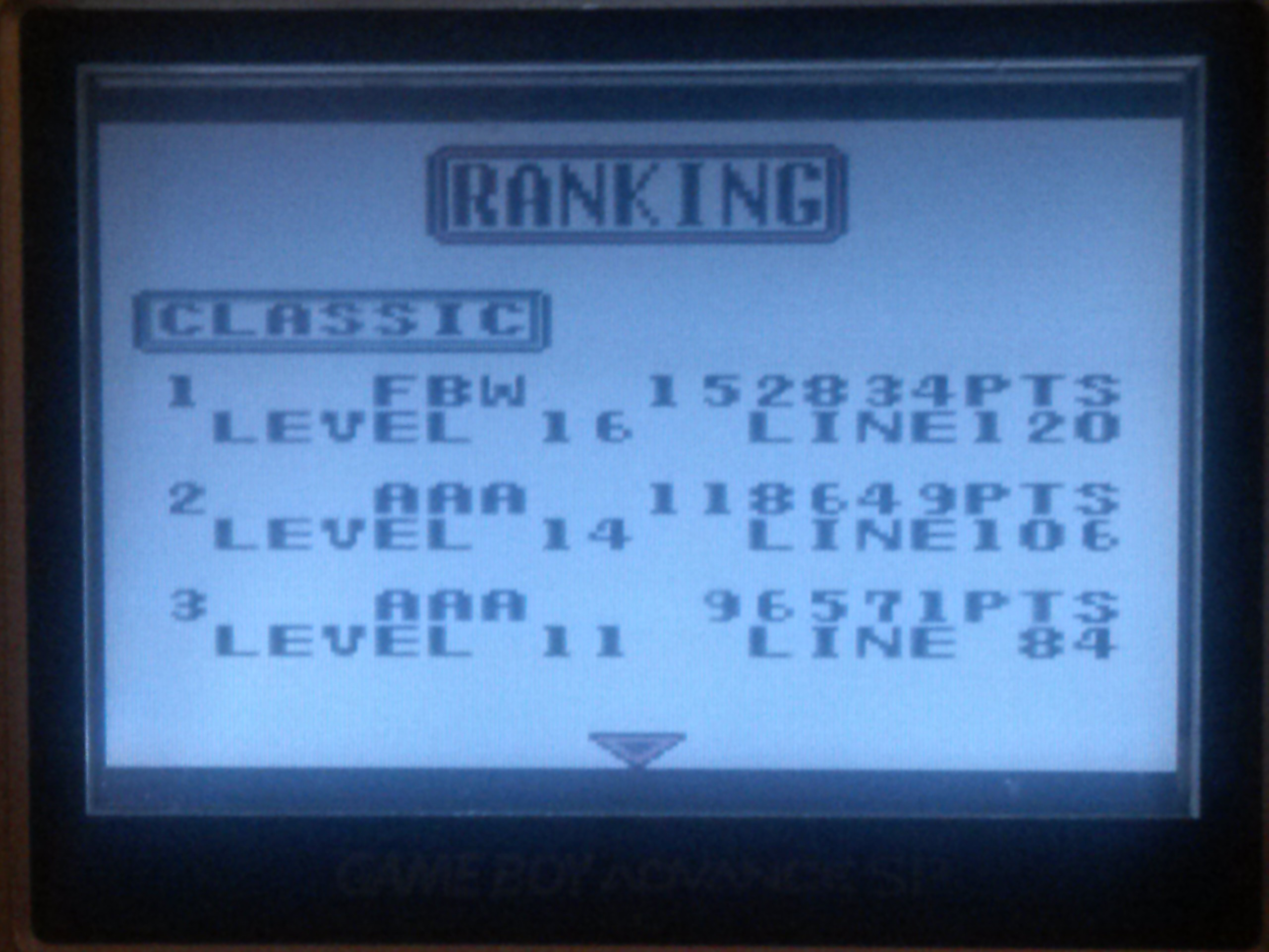FlyingBatWolf15: Tetris Plus - Classic (Game Boy) 152,834 points on 2015-01-03 20:11:13